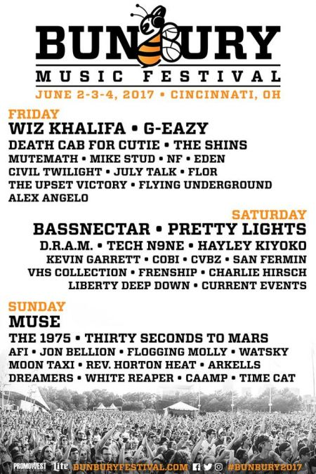 Once again, the Bunbury lineup is loaded