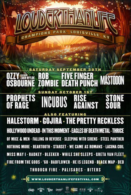 Louder Than Life festival 2017 poster