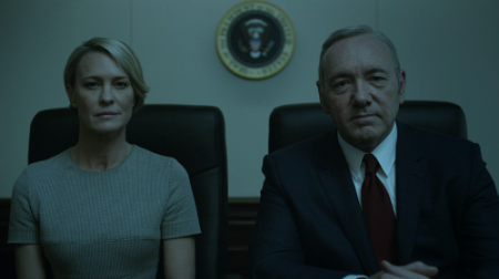 As expected, Frank and Claire Underwood's Spotify running mixes are as dark as they are.