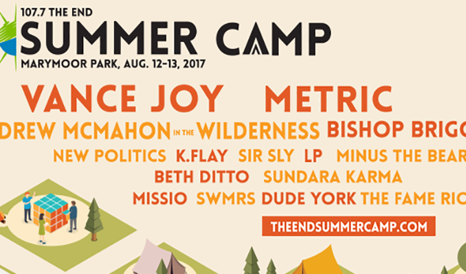 Vance Joy, Metric, Andrew McMahon in the Wilderness, Bishop Briggs, New Politics, K.Flay, Sir Sly, LP, Minus The Bear, Beth Ditto, Sundara Karma, MISSIO, SWMRS, Dude York, The Fame Riot tickets at King County's Marymoor Park in Redmond