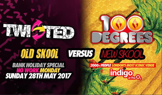 Twisted Meets 100 Degrees tickets at indigo at The O2, London