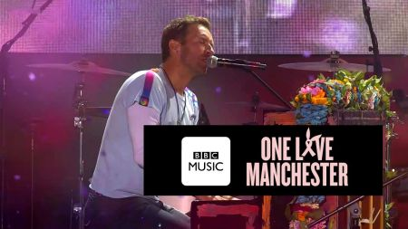 Watch Coldplay give emotional performance of 'Fix You' at One Love Manchester Concert