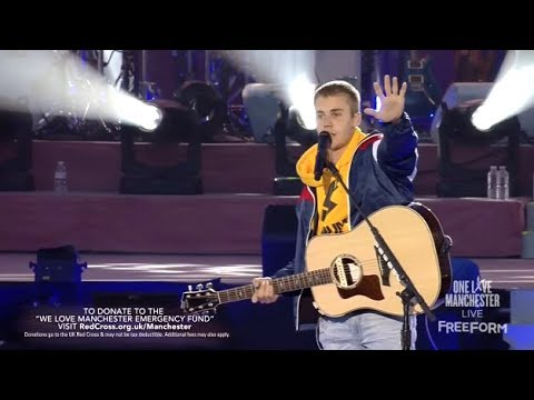 Watch: Justin Bieber gives powerful, emotional speech at 'One Love Manchester' benefit