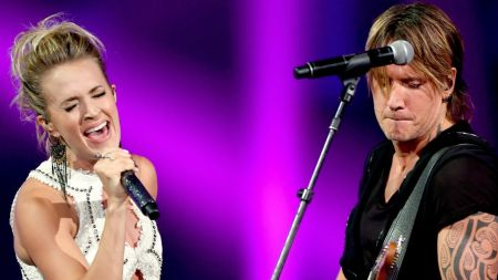 Keith Urban and Carrie Underwood win the big prizes at CMT Awards