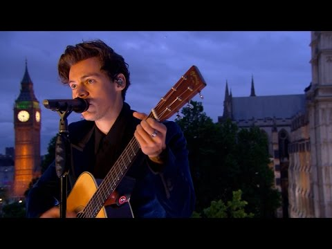 Watch: Harry Styles climbs to new heights in epic 'Two Ghosts' London rooftop performance