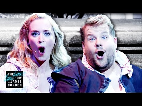 Watch: James Corden and Emily Blunt deliver amazing modern musical ode to 'Romeo and Juliet'