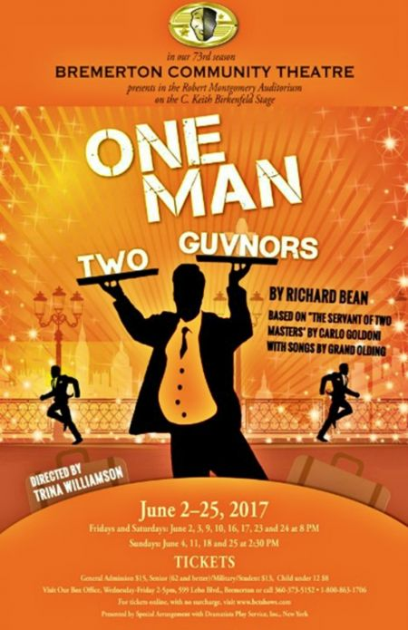 """One Man Two Guvnors"" continues through June 25."