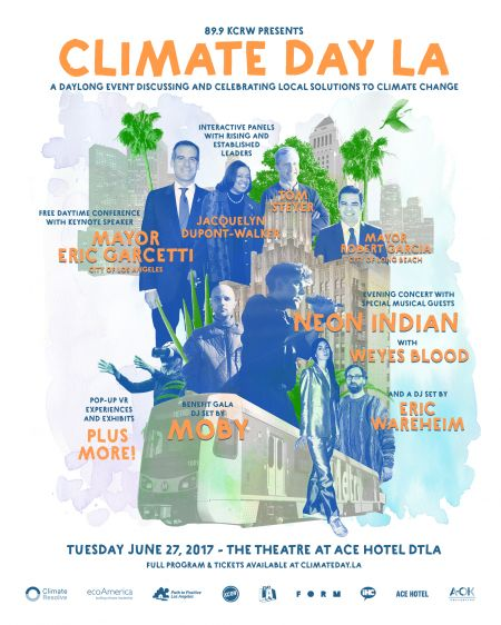 Climate Day LA, a combination of music and advocacy, to take place at The Theatre at Ace Hotel June 27