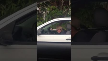 Watch a Metallica fan throw age out of the car window while enjoying an afternoon headbang