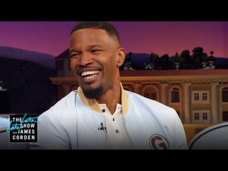 Jamie Foxx battles James Corden on 'The Late Late Show,' talks meeting Kanye West for the first time
