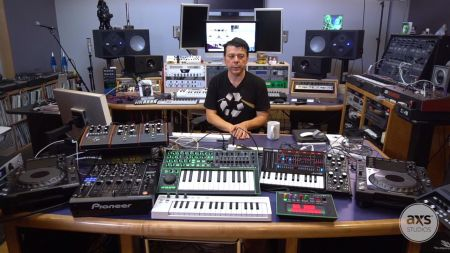 Watch The Crystal Method gear up for a tour with Tool, chat about new music in his studio