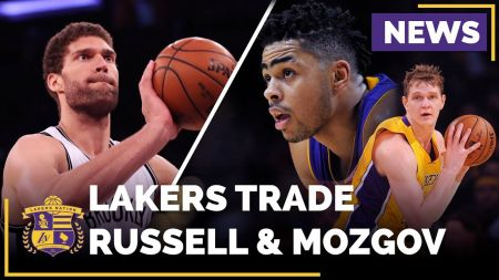Lakers agree to trade D'Angelo Russell, Timofey Mozgov to Nets for Brook Lopez