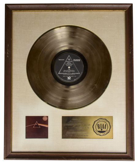 Pink Floyd gold record for 'The Dark Side of the Moon' sells for $25,000 at auction