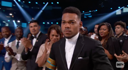 Watch Michelle Obama present Chance the Rapper with Humanitarian Award at the BET Awards