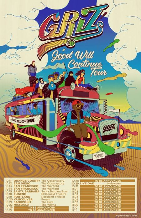 GRiZ announces Good Will Continue tour, remix of 'Good Times Roll' released