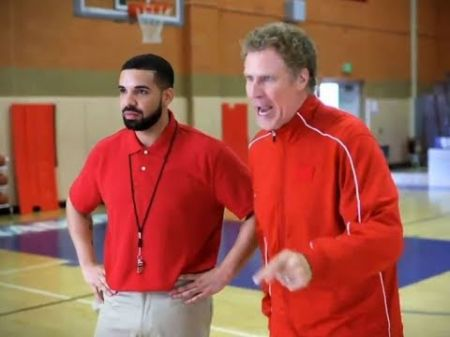 Drake and Will Ferrell perform sketch at NBA Awards