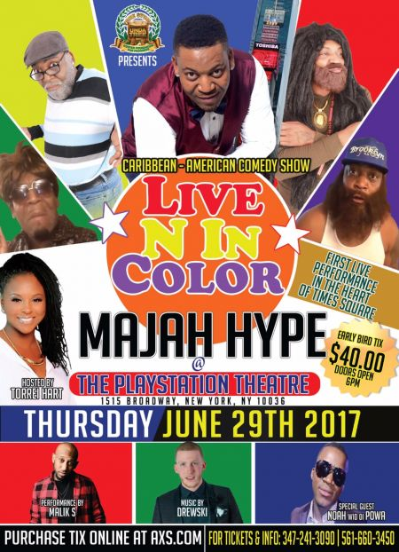 "Majah Hype headlines ""Live N In Color"" Comedy Show on June 29"