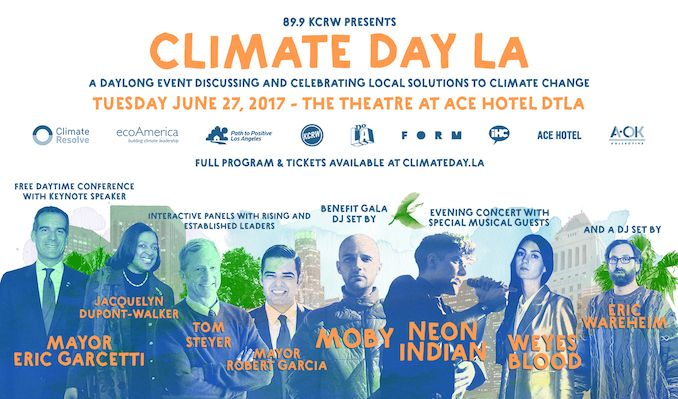 Climate Day LA - Evening Concert with Neon Indian, Weyes Blood, Eric Wareheim (DJ set), and more tickets at The Theatre at Ace Hotel in Los Angeles