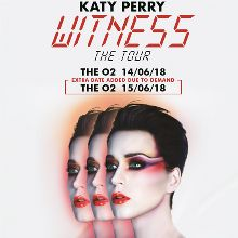 Katy Perry at The O2 tickets