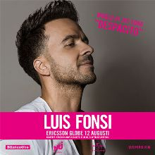 Luis Fonsi tickets at ERICSSON GLOBE/Stockholm Live in Stockholm
