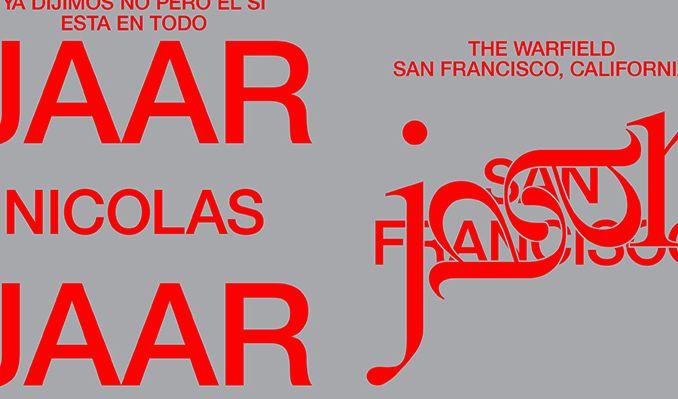 Nicolas Jaar tickets at The Warfield in San Francisco