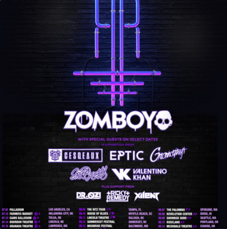 Zomboy's 2017 Rott n' Roll UStour