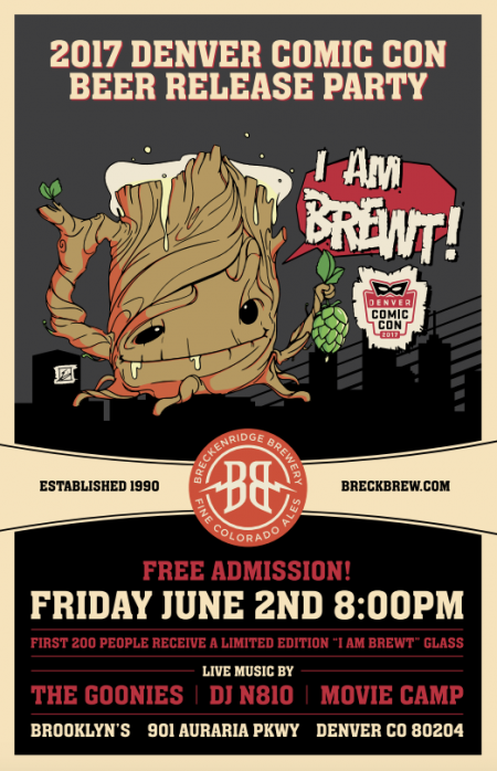 Denver Comic Con 2017: Breckenridge Brewery DCC beer launch party this Friday