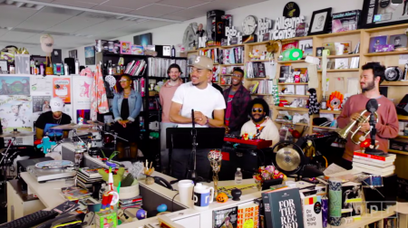 Chance The Rapper athis Tiny Desk Concert performance.
