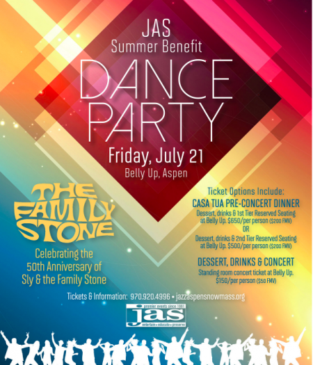 The JAS summer benefit takes place July 21 in Aspen, CO.