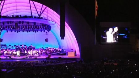 Lady Gaga performs with Tony Bennett at the Hollywood Bowl