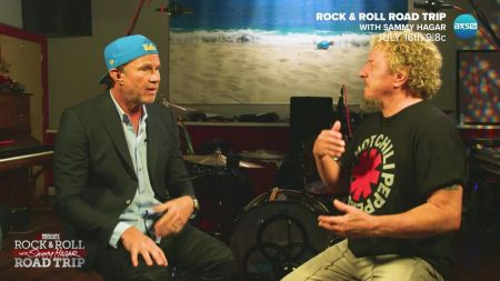 Sammy Hagar chats up Chad Smith on 'Rock & Roll Road Trip' July 16, plus check out deleted scenes from the episode