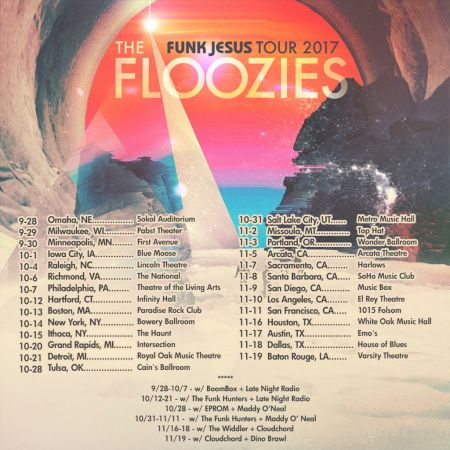 The Floozies announce Funk Jesus US tour