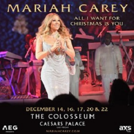 Mariah Carey to tell Vegas 'All I Want For Christmas Is You' during December residency