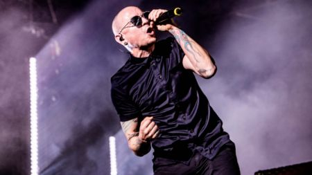 Linkin Park lead singer Chester Bennington.