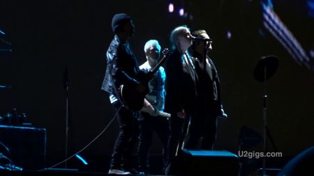 Bono and Patti Smith duet on 'Mothers of the Disappeared' at U2 show in Paris