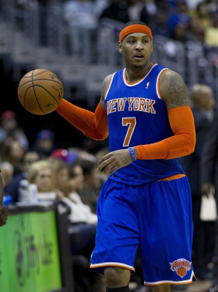 Trading Carmelo Anthony will drastically change the Knicks' starting lineup.