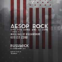 Aesop Rock tickets at Music Hall of Williamsburg in Brooklyn