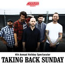 Taking Back Sunday 2 Day Pass - December 15th and 16th tickets at Starland Ballroom in Sayreville