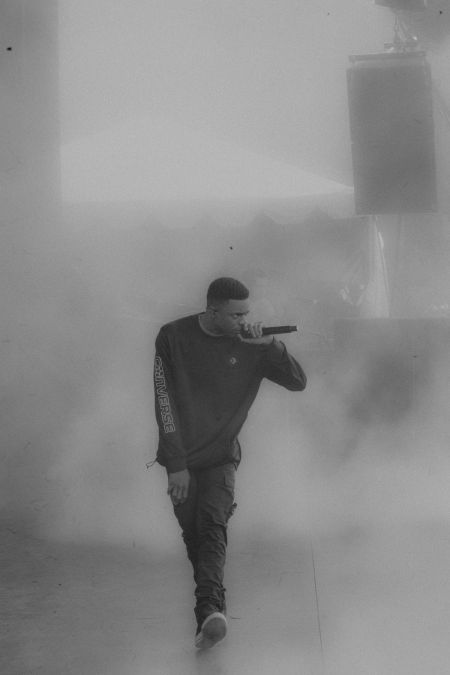 Overall, rapper Vince Staples put on an amazing performance, but one of the most memorable things about it was how intense he was on stage.