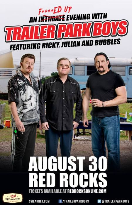 Ricky, Julian and Bubbles will spend a 'F***ed Up Evening' at Red Rocks this summer.