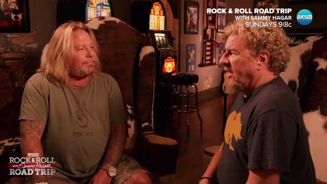 Sammy Hagar meets Vince Neil in Music City on 'Rock & Roll Road Trip' July 23 on AXS TV, watch deleted scenes from the episode