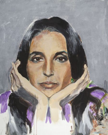 "Joan Baez will showcase her original paintings at a month-long gallery exhibit titled, ""Mischief Makers."""