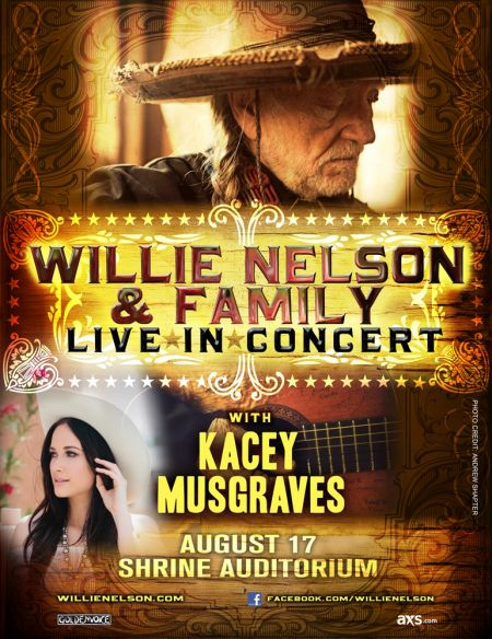 Win a pair of tickets to Willie Nelson at The Shrine Auditorium in LA