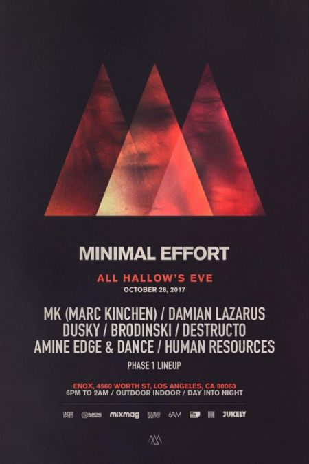 Minimal Effort announces phase 1 lineup for All Hallows Eve