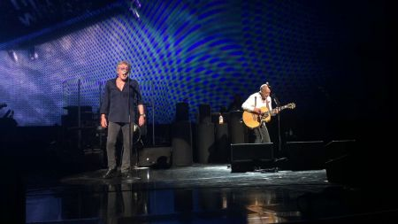 Watch: The Who's Pete Townshend and Roger Daltrey perform rare duet on 'Drowned' in Las Vegas