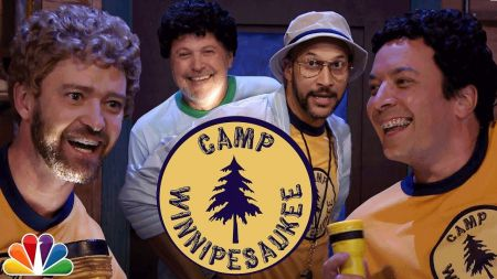 Watch Justin Timberlake and Jimmy Fallon return for 'Camp Winnipesaukee' on 'The Tonight Show'