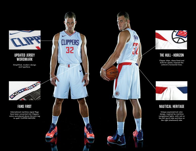 79fac4984 Photos  LA Clippers unveil new Nike uniforms for 2017-18 season - AXS
