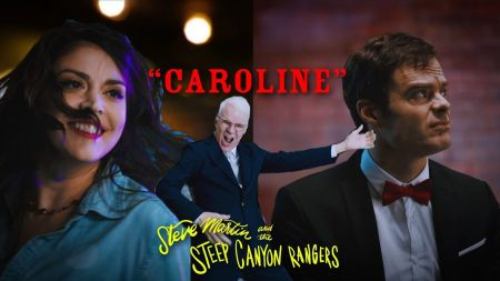 Steve Martin's new music video for 'Caroline' is an 'SNL' reunion with Cecily Strong and Bill Hader