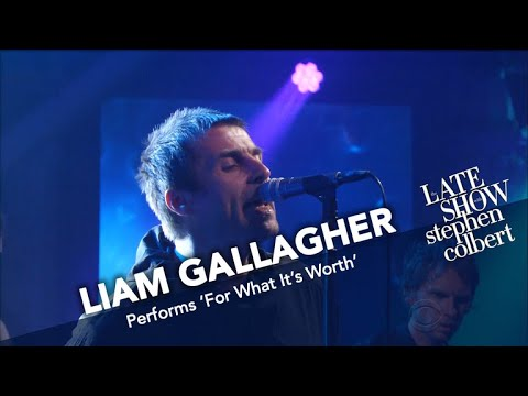 Watch Liam Gallagher make his solo TV debut on 'The Late Show With Stephen Colbert'