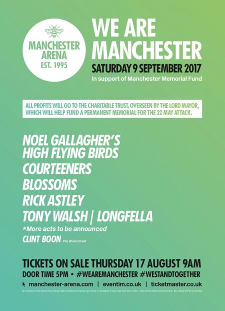 Manchester Arena will reopen for its first event since the May 22 bombings for a benefit concert on Sept. 9 titled 'We Are Manchester'